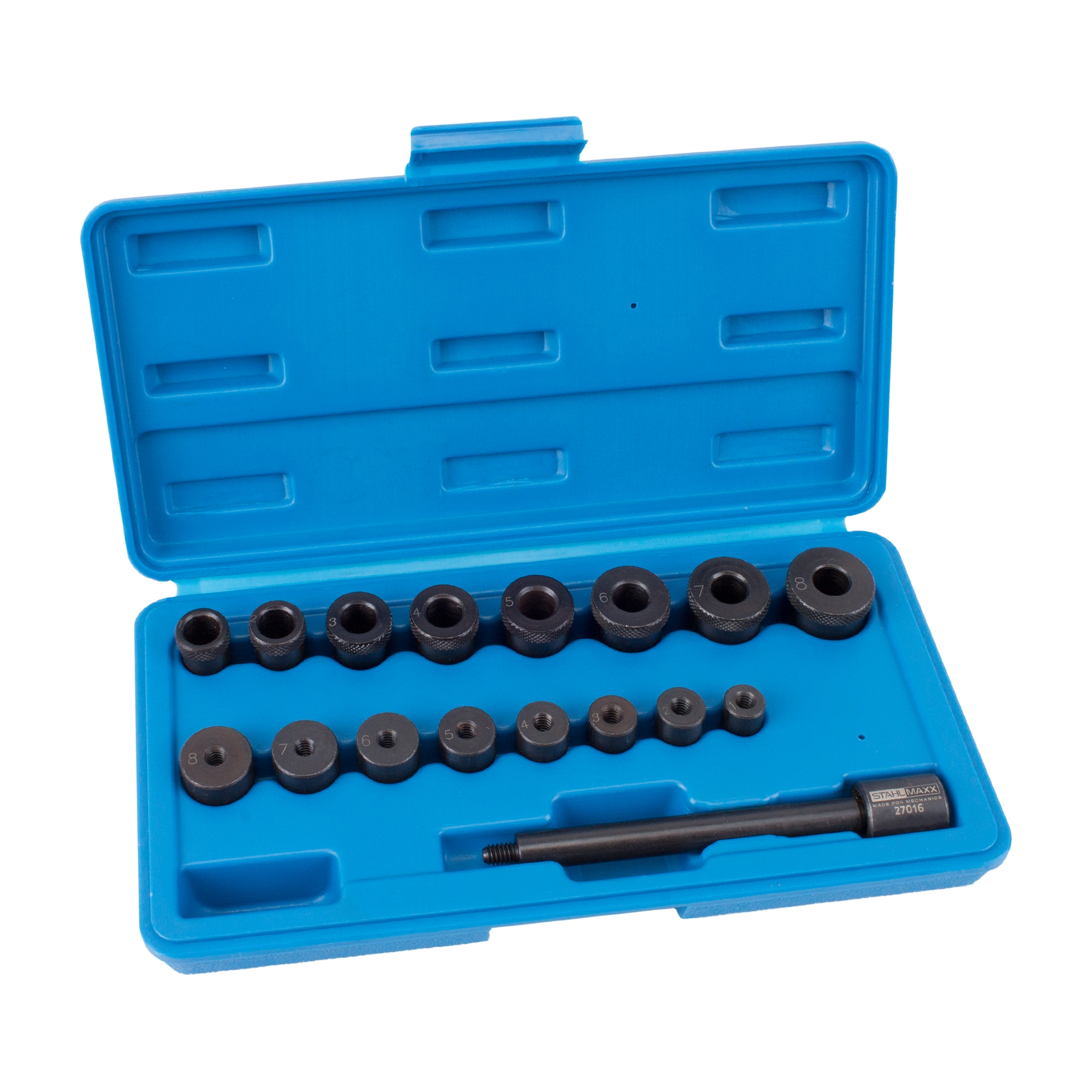 Universal Kupplung Zentriersatz Werkzeug Zentrierdorn Zentrierwerkzeug KFZ 17tlg